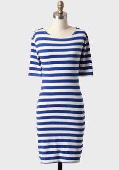 Creighton University Bluejays Tokyo Streets Striped Dress | Modern Vintage Dresses