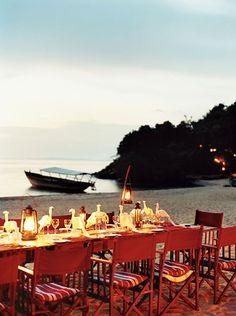 Alfresco dining is de rigueur at Greystone Mahale Tanzania