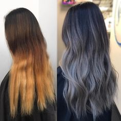 "2,319 Likes, 76 Comments - KY COLOR { ista } (@kycolor) on Instagram: "" Ash grey transformation Started with 6"" regrowth and an ombre over box dye ends. ️Toned with…"""