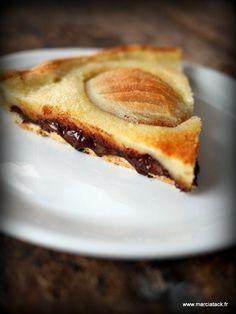 Pie recipes 510384570244842079 - Tarte poires chocolat Source by Flobchoses French Desserts, No Cook Desserts, Delicious Desserts, Dessert Recipes, Yummy Food, Sweet Pie, Sweet Tarts, Pear Recipes, Sweet Recipes