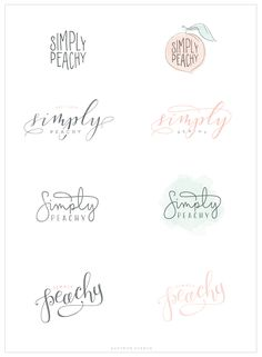 Simply Peachy - Logo and Blog Design - Saffron Avenue : Saffron Avenue                                                                                                                                                                                 More