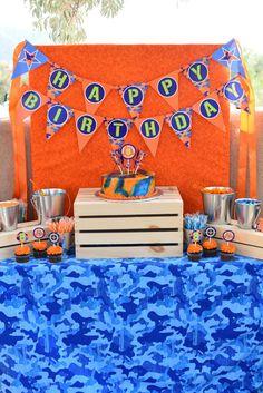 Nerf Gun Birthday Invitations Dart Wars by DelightPaperie on Etsy