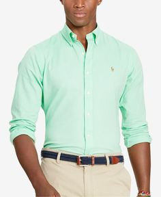 Polo Ralph Lauren Men's Men's Slim Fit Oxford Long Sleeve Shirt
