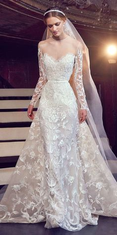 Hottest 27 Wedding Dresses Fall 2018 Hottest 21 Wedding Dresses Fall 2018 long sleeve sweetheart lace wedding dresses elie saab See more: www. Wedding Dresses 2018, Black Wedding Dresses, Bridal Dresses, Dress Wedding, Wedding Bride, October Wedding Dresses, Wedding Dressses, Cinderella Wedding, Modest Wedding