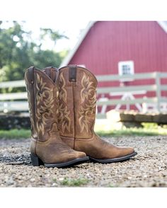 737776d77697a Justin Stampede Western Apache Cowboy Boots - Square Toe