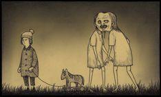 Illustration by John Kenn aka Don Kenn Monster Illustration, Illustration Sketches, Illustrations, Creepy Drawings, Dark Drawings, Arte Horror, Horror Art, Don Kenn, Art Sinistre