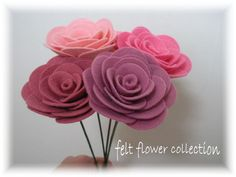 Felt Flower Tutorial  Wool Felt Rose Bouquet Tutorial-ebook How to PDF-epattern-Flower Pattern-ebook 003
