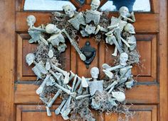 A Skeleton Wreath You Can Make At Home on Etsy