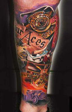 Tattoo Artist - Geza Ottlecz - Vegas and casino tattoo | www.worldtattoogallery.com