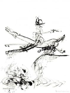 Roberto Matta- Untitled composition