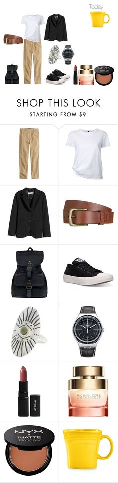 """""""today#81"""" by electra9 ❤ liked on Polyvore featuring J.Crew, Nobody Denim, Will Leather Goods, Mahi, Converse, Madewell, Inglot, Michael Kors, NYX and Fiesta"""