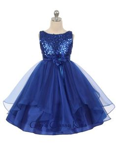 Beautiful sequined organza dress. Available in different colors.