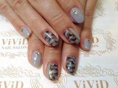 【No.23】Camouflage nail x Gary cool nail art! Gold foil stripe stands out!!  グレーカラー×迷彩柄でクールに仕上げました♪ #vividnailsalonsydney#calgel#sydney#nail#nails#nailart#art#nalisalon#gelnail#japanesenailart#ネイル#ネイルアート#ジェルネイル#カルジェル#美甲#指甲