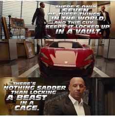 Dom and Brian Fast And Furious Memes, Fast And Furious Cast, The Furious, Tv Show Quotes, Movie Quotes, Movies Showing, Movies And Tv Shows, Dominic Toretto, I Dont Have Friends
