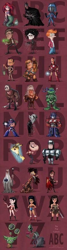 ultimate pop culture alphabet.