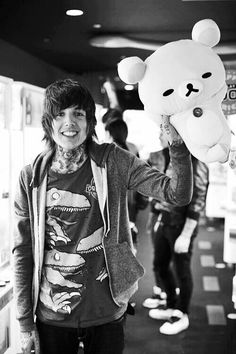 Oliver Sykes and teddy bears