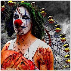 """Look at the Pretty Lights"" #Clowns by Mark W. Kramer (@KosmosK) 