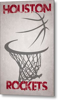 Rockets Metal Print featuring the photograph Houston Rockets Hoop by Joe Hamilton