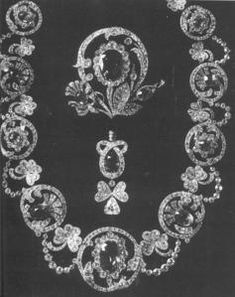"Victoria Melita Feodorovna, Princess of Saxe-Coburg-Gotha & Princess of the United Kingdom became Grand Duchess of Russia upon her second marriage to Grand Duke Cyril Vladimirovich of Russia. Her husband presented her some outstanding jewels, but this magnificent sapphire and diamond parure with elements of the ""Thistle of Scotland"", the ""Rose of England"" and the ""Irish Shamrock"", as diamond stylised three leaf trefoils, was a heirloom of her mother-in-law, the Grand Duchess Maria…"
