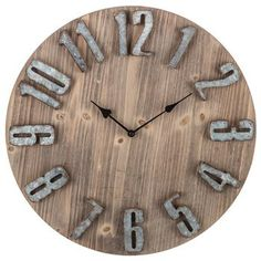 The best and most beautiful over-sized rustic wooden wall clocks that will give your beautiful home a charming farmhouse vibe. #mycozycolorado