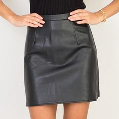 New Arrival OL PU Leather Skirts High Waist Sexy Vintage A-Line Office Skirts Womens Solid Mini Bodycon Skirt Plus Size