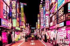 "culturenlifestyle: "" Ultra Neon pink Urban Lighting Consumes Tokyo Belgo-Portuguese photographer, visual artist, and filmmaker, Xavier Portela captures one of the most urbanized cities on the planet,. Japon Tokyo, Neo Tokyo, Tokyo City, Tokyo Streets, Tokyo Ville, Ville Rose, Arte Cyberpunk, Cyberpunk City, Tokyo Night"