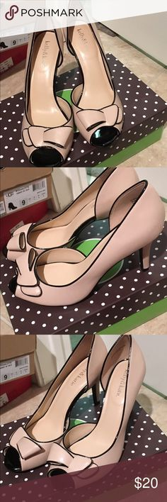 Kelly and katie peep toe pump shoes Beige off white with black accent peep toe, brand new, size 9 comes with the box Shoes Heels