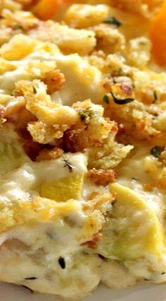 Cheesy Squash Casserole (Squash Recipes)