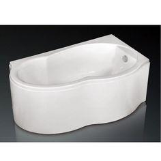 Cada asimetrica de baie, cu montaj pe colt, de la producatorul West, model Ariana disponibila cu dimensiuni de 155x90cm, fabricata din acril 100%, culoare alb. Bathtub, Bathroom, Model, Standing Bath, Washroom, Bathtubs, Bath Tube, Full Bath