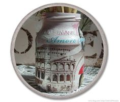Hey, I found this really awesome Etsy listing at https://www.etsy.com/listing/184373998/shabby-chic-jar-shabby-chic-rome-vespa