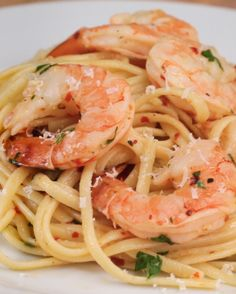 Baked Shrimp Linguine Scampi | Baked Shrimp Linguine Scampi Skip the pasta...