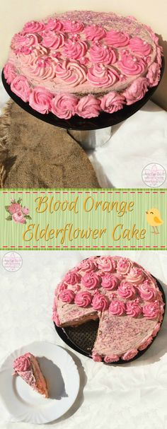 Blood Orange Elderflower Cake - Anna Can Do It! * Blood Orange Elderflower Cake is a citrusy floral Elderflower Cake with a georgus vibrant and refreshing Blood Orange cream frosting. It's a real princess cake (pink and cute and everything); so, it's great as a birthday cake and it's perfect as a tasty Easter dessert too.
