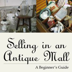 PDF Selling in an Antique Mall by VintageRescueSquad on Etsy, $9.95