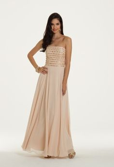 Chiffon Beaded Bodice Dress from Camille La Vie and Group USA