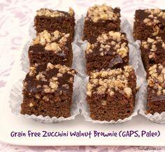 Recipe: Grain Free Zucchini Walnut Brownie (GAPS, Paleo) post image