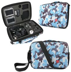 Premium Quality Custom-Fit EVA Case for GoPro Hero 3+/3/2/1 in Blue Camo | eBay