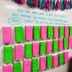 Classroom - Last week of school idea Each student will have a baggie with an index card for each student on their desk Tuesday morning along with a… Classroom Library Labels, 4th Grade Classroom, School Classroom, Classroom Organization, Classroom Decor, Classroom Management, Future Classroom, Year 3 Classroom Ideas, Classroom Hacks