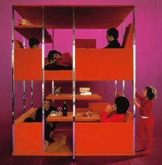 THE MULTI-LEVEL LIVING SPACE BY VERNER PANTON