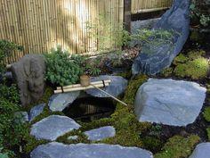 brunnen steinbecken ideen japanischer garten wasserspiel | nature, Hause und Garten