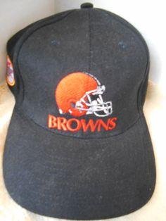 NFL Cleveland  Browns Helmut Miller Lite Baseball Cap Hat Black Embroidered