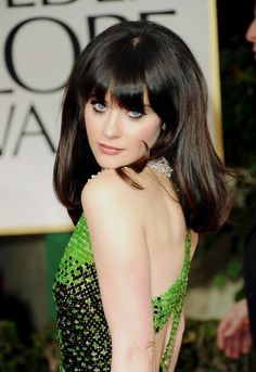 Zooey has the coolest eyes.