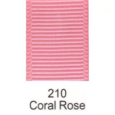 210 - Coral Rose Plain Ribbon *FREE POSTAGE* #Unbranded