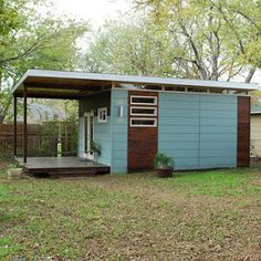 The Discovery: a modular home with 420 sq ft of space, available for sale in Port Townsend, WA.
