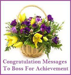 Congratulation Messages : Boss For Achievement