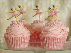 Ballerina cupcakes...love the toppers!