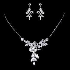 ArtDecoStilHochzeitSchmuckSet Swarovski Kristall Braut von Annamall, $29.99