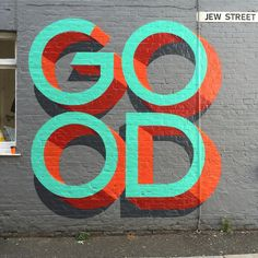 D Street Art Wall Mural to create a fantastic wall decor in your room or browse thousands of other wall murals and custom wall murals. Best Graffiti, Graffiti Wall, Typography Inspiration, Graphic Design Inspiration, Mural Art, Wall Murals, Wallpaper Murals, Photo Wallpaper, Wall Art