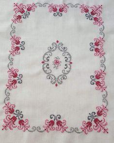 Cross Stitch Boarders, Cross Stitch Designs, Cross Stitching, Cross Stitch Patterns, Crewel Embroidery, Cross Stitch Embroidery, Hobbies And Crafts, Arts And Crafts, Girls Frock Design