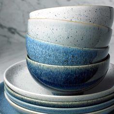 Studio Blue 4 Piece Alt Nesting Bowl Set - Studio Blue 4 piece nesting bowl set for casual dining – Denby Pottery - Pottery Plates, Ceramic Plates, Ceramic Pottery, Blue Pottery, Thrown Pottery, Ceramic Art, Pottery Vase, Blue Dinnerware, Stoneware Dinnerware Sets