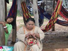 Una tejedor Wayuu